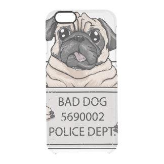 mugshot dog cartoon. clear iPhone 6/6S case
