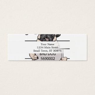 mugshot dog cartoon. mini business card