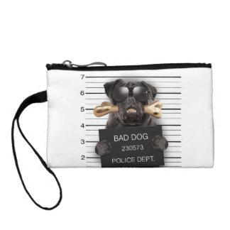 Mugshot dog,funny pug,pug coin purse