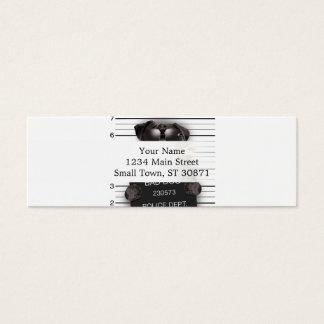 Mugshot dog,funny pug,pug mini business card