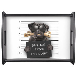 Mugshot dog,funny pug,pug serving tray