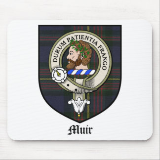 Muir Clan Crest Badge Tartan Mouse Pad
