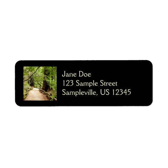Muir Woods Path Return Address Label
