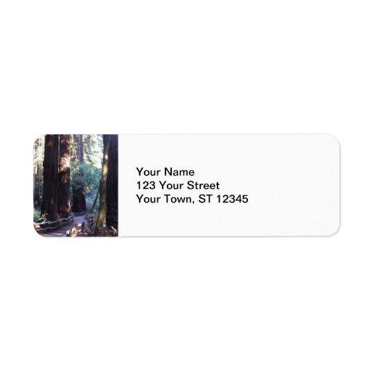 Muir Woods Return Address Label