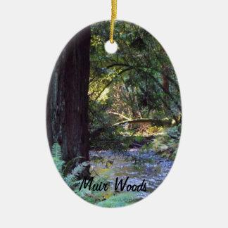 Muir Woods Stream Ceramic Oval Decoration