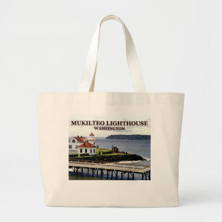 Mukilteo Lighthouse, Washington Jumbo Tote Bag