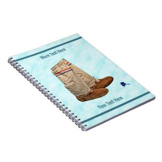 Mukluks On Snow Notebook