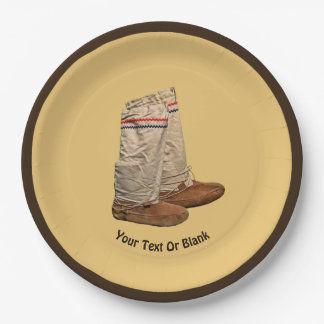 Mukluks Paper Plate