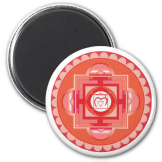 Mūlādhāra Mandala Chakra (root chakra) 6 Cm Round Magnet