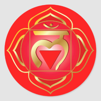 muladhara or root chakra Sticker