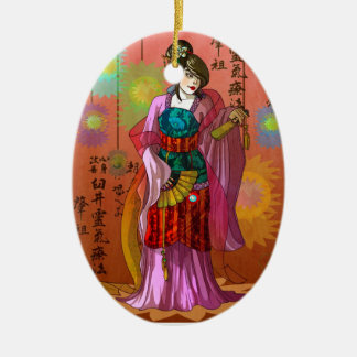 Mulan Ceramic Ornament