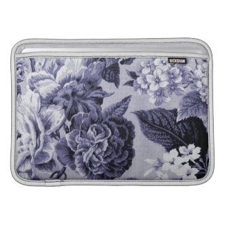 Mulberry Blue Purple Floral Toile No.1 MacBook Sleeves