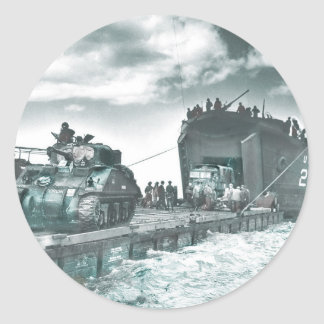 Mulberry Deep Water Harbor D-Day Round Sticker
