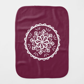 Mulberry Mandala Burp Cloth