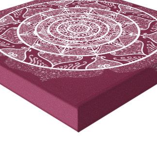 Mulberry Mandala Canvas Print