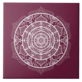 Mulberry Mandala Ceramic Tile