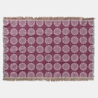 Mulberry Mandala Throw Blanket
