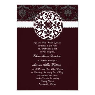 Mulberry Rosette Wedding Invitation