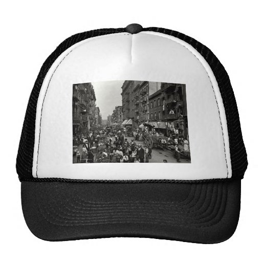 Mulberry Street in New York City, ca. 1900 Mesh Hats