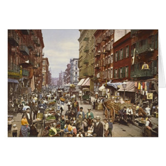 Mulberry Street Market New York City 1900 Card