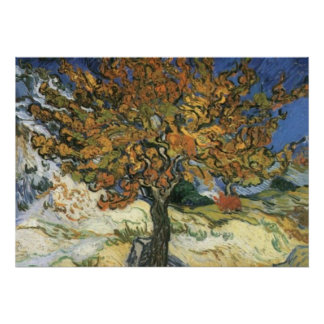 Mulberry Tree van Gogh Post-Impressionist Poster
