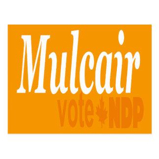 Mulcair Vote NDP Postcard