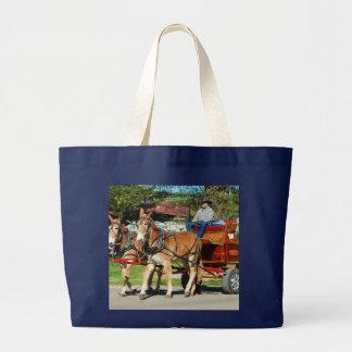mule day parade tote bag