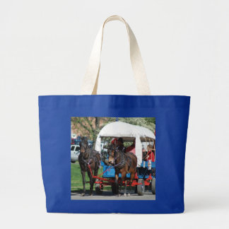mule day parade canvas bag