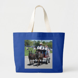 mule day parade jumbo tote bag