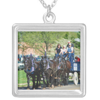 mule day parade silver plated necklace