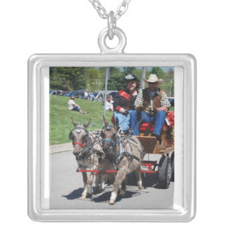 mule day parade square pendant necklace