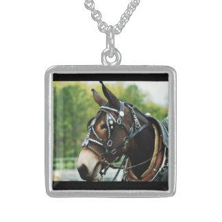 mule days square pendant necklace