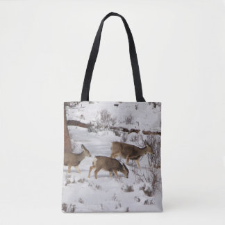 Mule Deer and Elk Tote Bag