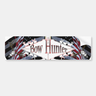 mule deer bow hunter bumper sticker
