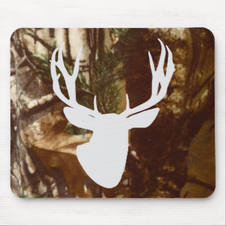 Mule Deer Buck Front View on Camo Mouse Pad