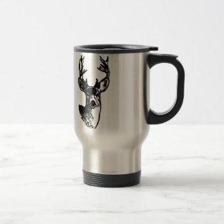 Mule Deer Buck (line art) Travel Mug
