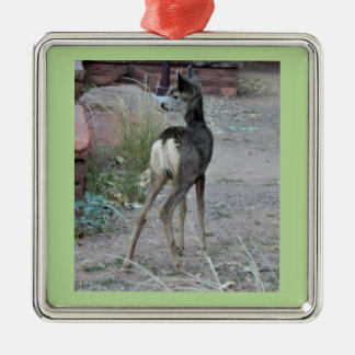 Mule Deer Fawn Zion National Park Metal Ornament