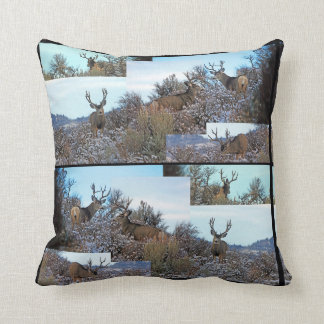 Mule deer photo art cushion