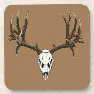 Mule deer skull drink coaster