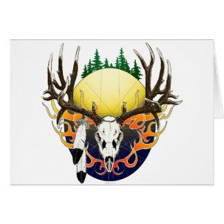 Mule Deer skull Greeting Card