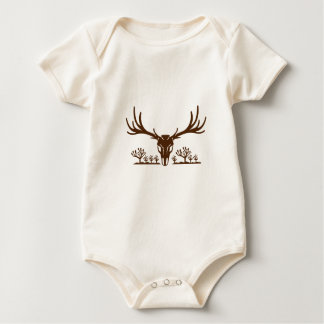 Mule Deer Skull Joshua Tree Icon Baby Bodysuit