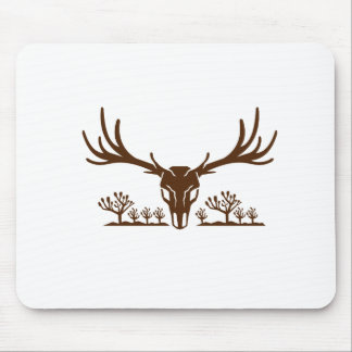 Mule Deer Skull Joshua Tree Icon Mouse Pad