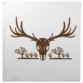 Mule Deer Skull Joshua Tree Icon Napkin
