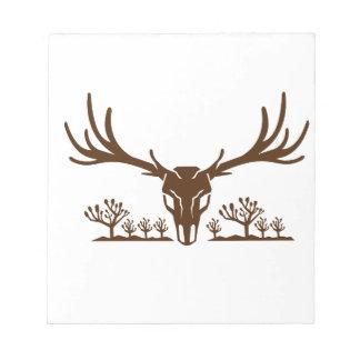 Mule Deer Skull Joshua Tree Icon Notepad