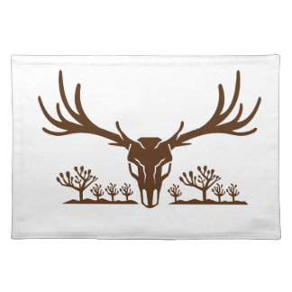 Mule Deer Skull Joshua Tree Icon Placemat