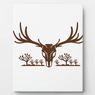 Mule Deer Skull Joshua Tree Icon Plaque
