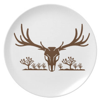 Mule Deer Skull Joshua Tree Icon Plate