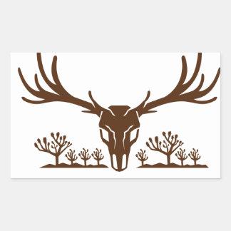 Mule Deer Skull Joshua Tree Icon Rectangular Sticker