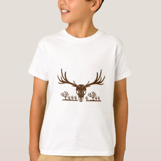 Mule Deer Skull Joshua Tree Icon T-Shirt
