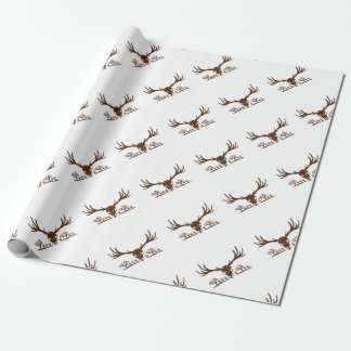 Mule Deer Skull Joshua Tree Icon Wrapping Paper